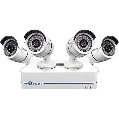 Swann 8-Channel 720p SWNVK-870854-US NVR, with 4 Security Cameras