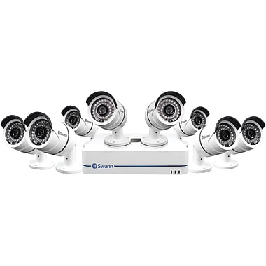Swann 8-Channel 720p SWNVK-870858-US NVR, with 8 Security Cameras