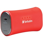 Verbatim Portable Micro-USB 98357 Power Bank Charger, Red