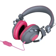 Isound Dynamic Stereo Headphones DGHM-5520 with in-line Mic and Volume controls, Pink