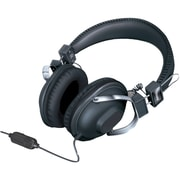Isound Dynamic Stereo Headphones DGHM-5521 with in-line Mic and Volume controls, Black