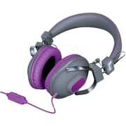 Isound Dynamic Stereo Headphones DGHM-5524 with in-line Mic and Volume controls, Purple