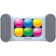 Isound Mini ISOUND-5383 Dancing Lights Bluetooth Speaker, White