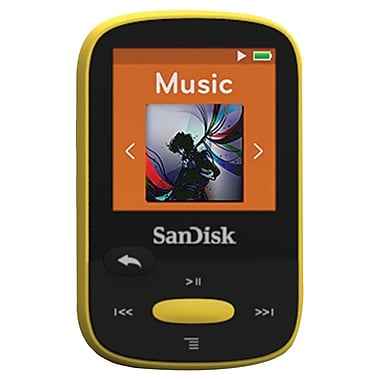 SanDisk Clip Sport SDMX24-008G-A46Y 8GB MP3 Player, Yellow