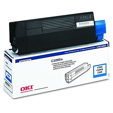 Okidata 43034803 Cyan Toner Cartridge, Type C6