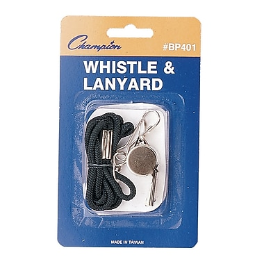 Champion Sports® Metal Whistle With Lanyard
