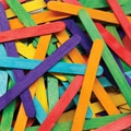 Chenille Kraft® Bright Hues Craft Sticks, 0.375in. x 4.5in., Assorted