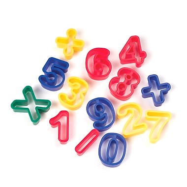 Chenille Kraft® Numbers & Math Symbols Dough Cutters, 1 5/16
