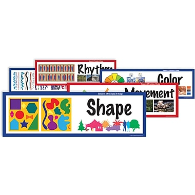 Crystal Productions Elements & Principles Art Display Cards, Grades Preschool - 9