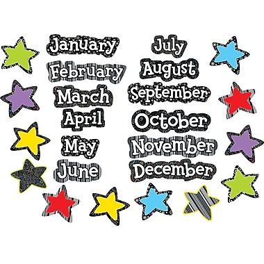 Creative Teaching Press® Months Of The Year Headlines, Black and White