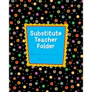 Creative Teaching Press CTP1720 Dots On Black Substitute Teacher Folder, Grade Kindergarten - 5