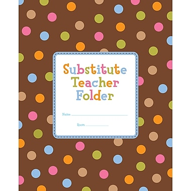 Creative Teaching Press® Dots On Chocolate® Substitute Teacher Folder, Grades K - 5
