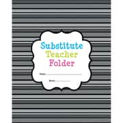 Creative Teaching Press® BW Collection Substitute Teacher Folder, Grades K - 5