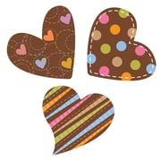 Creative Teaching Press® Designer Cut Out, Dots on Chocolate Hearts