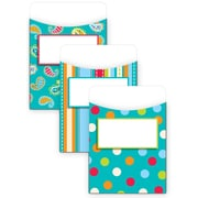 "Creative Teaching Press® Jumbo Library Pockets, 6 1/2"" x 9"", Dots on Turquoise"