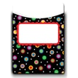 Creative Teaching Press® Jumbo Library Pockets, 6 1/2in. x 9in., Dots on Black