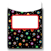 "Creative Teaching Press® Jumbo Library Pockets, 6 1/2"" x 9"", Dots on Black"