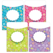 "Creative Teaching Press® Jumbo Library Pockets, 6 1/2"" x 9"", Paisley Doodles"