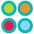 Creative Teaching Press® Dots On Turquoise Hot Spots Sticker