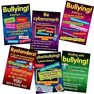 Didax® Bullying in a Cyber World Poster Set, Grades 2 - 5
