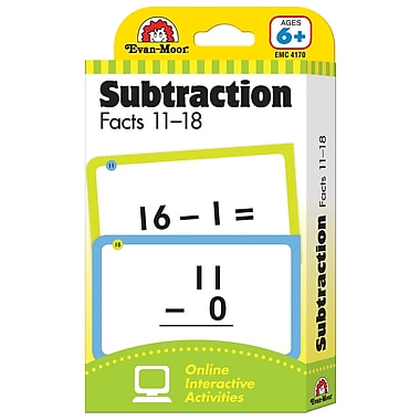Evan - Moor® Learning Line: Flash Card, Subtraction Facts 11 - 18