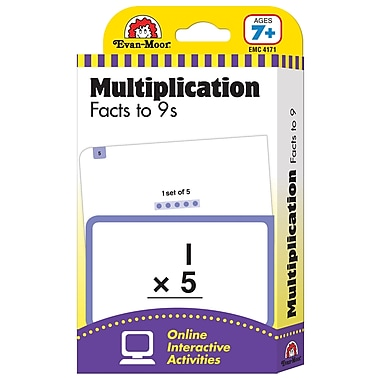 Evan - Moor® Learning Line: Flash Card, Multiplication Facts to 9s