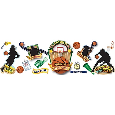 Eureka® Bulletin Board Set, Basketball