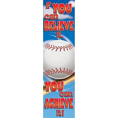 Eureka® Motivational Vertical Banner, Baseball