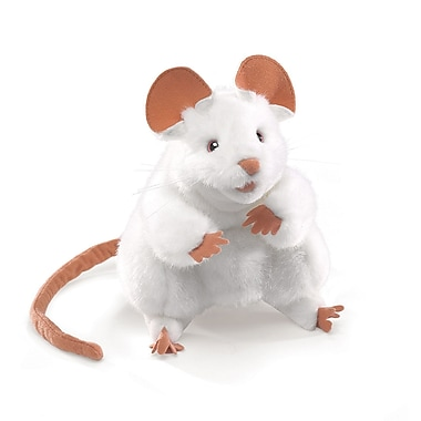 Folkmanis® Mouse Hand Puppet, White