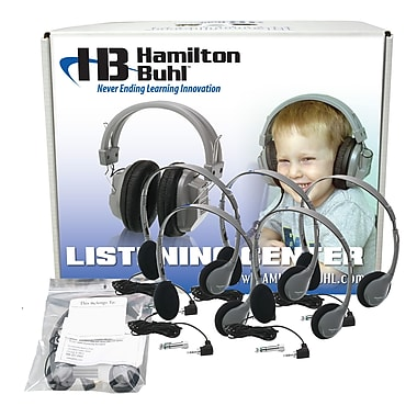 Hamilton Buhl™ HA2 12 User Personal Headphone With Laminated Carry Case, Gray