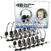 Hamilton Buhl™ MS2LV 12 User Personal Headphone With Volume Control & Leatherette Ear Cushions, Gray