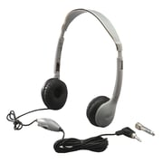 Hamilton Buhl SchoolMate MS2LV Personal Stereo On-Ear Headphone with in-line Volume, Gray