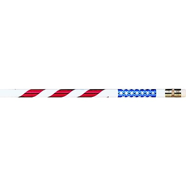 J.R. Moon Pencil Co. Stars and Stripes Pencil, 12/Pack