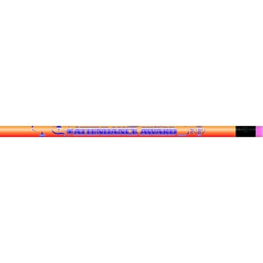 J.R. Moon Pencil Co. Attendance Award Pencil, 12/Pack