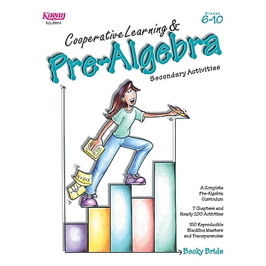 Kagan Publishing Cooperative Learning & Pre-Algebra Book, Grades 6 - 10