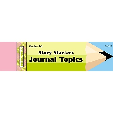 McDonald Publishing Story Starters Journal Booklet Writing Skills Book, Grades 1 - 3