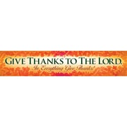 "North Star Teacher Resources® ""Give Thanks To The Lord"" Thanksgiving Banner"