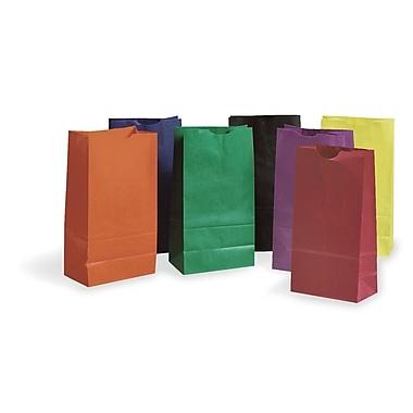 Pacon Corporation PAC72140 Assorted Rainbow Bright Kraft Bag, 11
