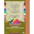 Pacon® Peacock® Sulphite Construction Paper, Brown, 18in.(H) x 12in.(W), 50 Sheets