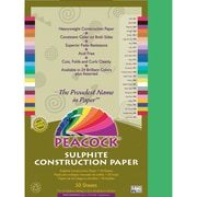 Pacon® Peacock® Sulphite Construction Paper, Holiday Green, 18(H) x 12(W), 50 Sheets