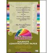 Pacon® Peacock® Sulphite Construction Paper, Bright White, 18(H) x 12(W), 50 Sheets