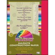 Pacon® Peacock® Sulphite Construction Paper, Holiday Red, 18(H) x 12(W), 50 Sheets