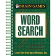 Publications International Brain Games Mini Word Search Activity Book, Grades 8 - 12