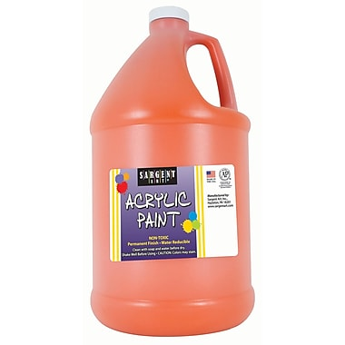 Sargent Art Non-Toxic 64 oz. Acrylic Paint, Orange (SAR222714)