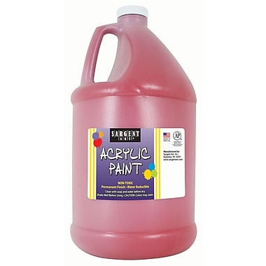 Sargent Art Non-Toxic 64 oz. Acrylic Paint, Red (SAR222720)