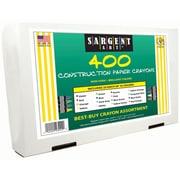 Sargent Art® 400 Piece Asst Standard Size 16 Colors Construction Paper Crayons