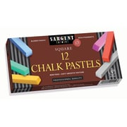 "Sargent Art SAR224112 Assorted Square Chalk Pastels, 2.5"" x 0.38"", 12/Pack"