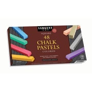 "Sargent Art SAR224148 Assorted Square Chalk Pastel, 2.5"" x 0.38"", 48/Pack"