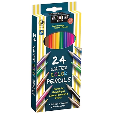 Sargent Art SAR227205 Pre-Sharpened Assorted Watercolor Pencil, 7