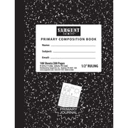 Sargent Art 23-1535 9.8 x 7.5 Primary Ruled Hardcover Composition Notebook